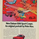 1973 Peter Max Forward Motion Datsun 1200 Vintage 1973 Magazine Ad Advert Advertisement