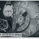 1951 Buttes Watch Company Switzerland Vintage 1951 Swiss Ad Suisse Advert Butex BUT BWC