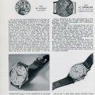 1951 Eberhard Watch Company Marvin Watch Co. Lavina Cortebert Vintage 1951 Swiss Magazine Article