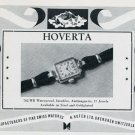 1951 Hoverta Watch Company H. Hofer Ltd. Vintage 1951 Swiss Ad Suisse Advert Switzerland