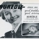 1951 Aureole Watch Company Switzerland Vintage 1951 Swiss Ad Suisse Advert #2 Horology