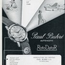1951 Paul Buhre Watch Company RotoDatoR Advert 1951 Swiss Ad Suisse Advert Switzerland