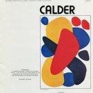 1975 Alexander Calder Vintage 1975 Art Ad Advert Magazine Advertisement Boomerang