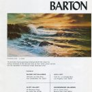 1975 Edward Barton Pounding Surf Vintage 1975 Art Ad Advert Magazine Advertisement