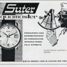 1964 Suter Watch Company Suter Aquamaster Advert 1964 Swiss Ad Suisse Advert Switzerland
