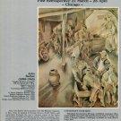 1975 John Barber Vintage 1975 Retrospective Art Exhibition Ad Sardine Workers Advert
