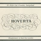 1946 Hoverta Watch Company H Hofer Switzerland Vintage 1946 Swiss Ad Suisse Advert