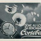 1946 Cortebert Watch Company Vintage 1946 Swiss Ad Suisse Advert Switzerland Horology