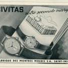 1946 Civitas Watch Company Moeris SA Switzerland Vintage 1946 Swiss Ad Suisse Advert #2