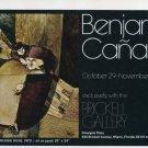 1974 Benjamin Canas Vintage 1974 Art Exhibition Ad Advert El Duque Rojo Brickell Gallery, Miami