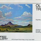 1974 Olin Travis Dog Mountain Advert 1974 Art Exhibition Ad Advertisement Dupree Gallery