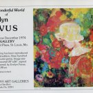 1974 Evelyn Favus Vintage 1974 Art Exhibition Ad Advert Lizzy Advertisement Alvey Gallery, St. Louis