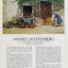 1974 Manes Lichtenberg Cast Shadows Vintage 1974 Art Exhibition Ad Advert Maxwell Galleries