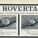 1959 Hoverta Watch Company H. Hofer Switzerland Vintage 1959 Swiss Ad Suisse Advert
