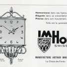 1956 Imhof Clock Company Switzerland Vintage 1956 Swiss Ad Suisse Advert Arthur Imhof SA Horology