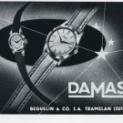 1956 Damas Watch Company Beguelin & Co. Switzerland 1956 Swiss Ad Suisse Advert Horology Horlogerie