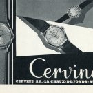 1956 Cervine Watch Company Switzerland Vintage 1956 Swiss Ad Suisse Advert Horology