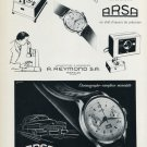 1956 Arsa Watch Company A. Reymond S.A. Vintage 1956 Swiss Ad Suisse Advert Horology Switzerland