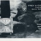 1965 Freco Watch Company Frey & Co. S.A. Switzerland 1965 Swiss Ad Suisse Advert Horology