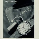 1957 Tradition Watch Co. Reusser Watch Company Switzerland Vintage 1957 Swiss Ad Suisse Advert
