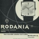 1965 Rodania Watch Company Grenchen Switzerland Vintage 1965 Swiss Ad Suisse Advert