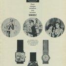 Vintage 1965 Sandoz Watch Company Switzerland 1965 Swiss Ad Suisse Advert