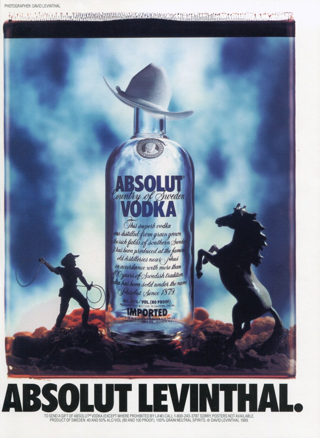 David Levinthal Absolut Levinthal Absolut Vodka Ad Advert Magazine Advertisement
