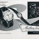 Vintage 1957 Mathey-Tissot Watch Company Les Ponts-de-Martel Switzerland Swiss Magazine Ad Advert