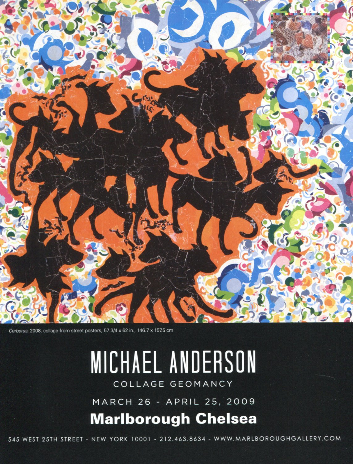 Michael Anderson Cerberus 2009 Art Exhibition Ad Advert
