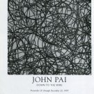 John Pai Down to the Wire 1997 Art Exhibition Ad Advert