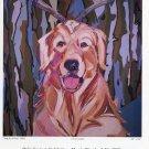 Joe Baker Dog As A Deer 1989 Art Exhibition Ad Advert