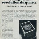 1976 Omega Watch Company Revolution Quartz 1976 Swiss Ad Suisse Advert Schweiz