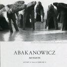 Abakanowicz Mutants 1997 Art Exhibition Ad Advert