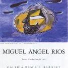 Miguel Angel Rios 1992 Art Exhibition Ad Advert