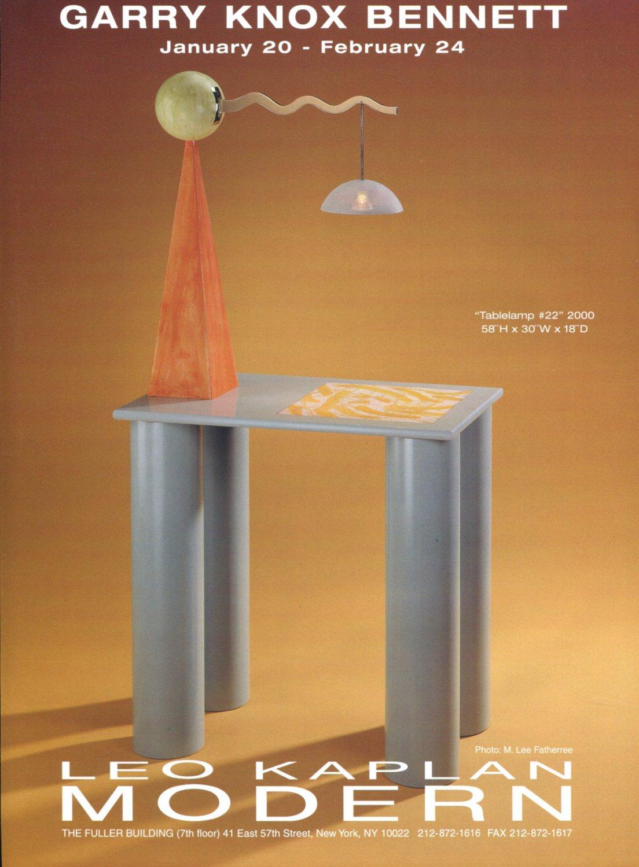 Garry Knox Bennett 2001 Art Exhibition Ad Advert