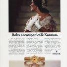 Rolex Kiri Te Kanawa 1992 Ad Advert Rolex Watch Company Opera Star Te Kanawa
