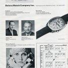 1972 Bulova Watch Company Switzerland Swiss Watch Fair Original 1972 Swiss Ad Suisse Advert