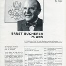 Bucherer Watch Company Switzerland Ernst Bucherer 1971 Swiss Magazine Article
