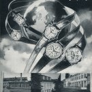 1952 Montilier Watch Company 100 Year Anniversary Vintage 1952 Swiss Ad Suisse Advert Switzerland