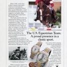 Rolex Watch Company U.S. Equestrian Team USET Ad Advert Michael Matz Lt. John Woffard