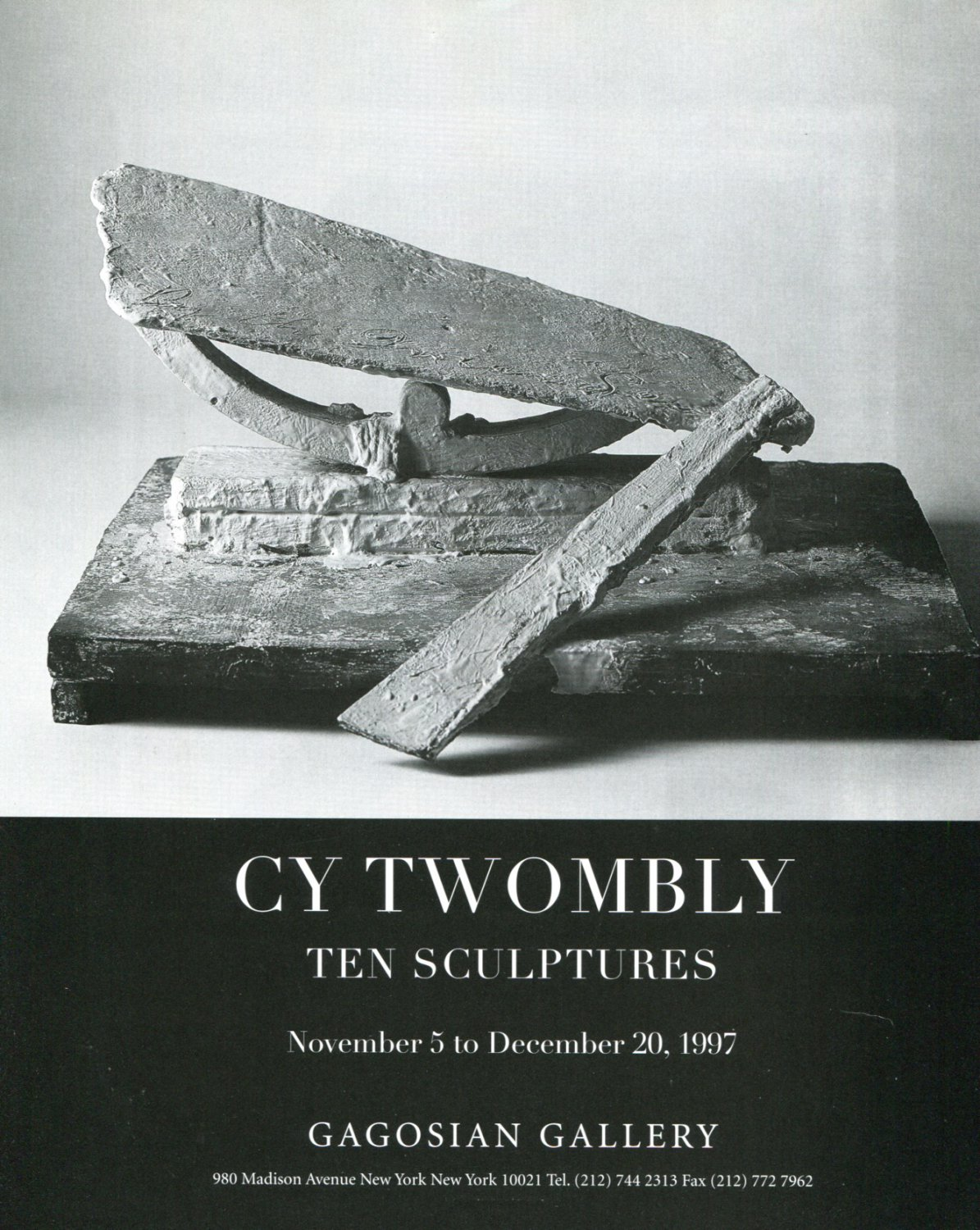 1997 Cy Twombly Art Exhibition Ad Advert Gagosian Gallery NY