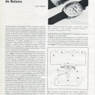 1972 Bulova Watch Company La Nouvelle Accuquartz de Bulova 1972 Swiss Magazine Article