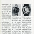 1972 Girard-Perregaux Watch Company La Montre a Quartz 1972 Swiss Magazine Article Switzerland