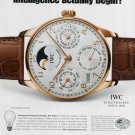 IWC International Watch Company Artificial Intelligence 2008 Ad Magazine Advert
