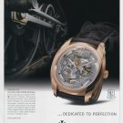 Vacheron Constantin Watch Company Dedicated to Perfection 2008 Ad Magazine Advert