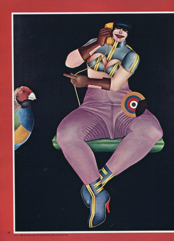 Richard Lindner Lindner's Ladies Vintage 1973 Magazine Article by Hilton Kramer