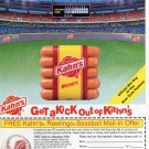 Kahn's Hot Dogs Official Hot Dog of New York Yankees Baseball Team 1996 Magazine Ad Advert