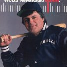 Lou Pinella NY Yankees WCBS NewsRadio 88AM 1986 Ad Advert New York Baseball Radio Station