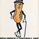 Planters Peanuts Mr. Peanut New York Baseball Yankees Mets 1986 Magazine Ad Advert