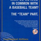Continental Airlines New York Yankees Baseball Team 2003 Magazine Ad Advert NY Yankees
